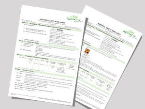 Safety Data Sheets for dairy hygiene products