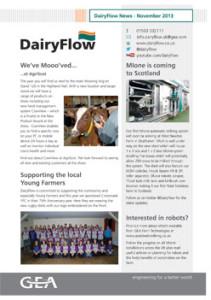 Image of the DairyFlow Newsletter November 2013