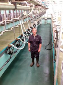 Craig Cochrane in his new 14/28 swingover milking parlour