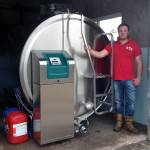 George Halley with his new TCool tank